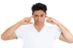 Angry man. Are you crazy? Royalty Free Stock Photo