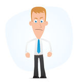 Angry manager Royalty Free Stock Photos