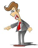 Angry manager. Manager who was angry with employees royalty free illustration