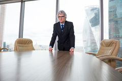 Angry mature businessman Stock Images