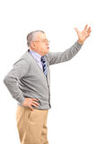 An angry mature man shouting Royalty Free Stock Photo