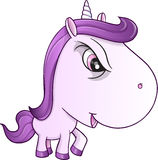 Angry Mean Unicorn Pony Vector. Illustration Art Stock Photo