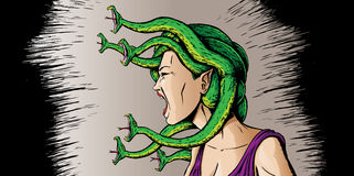 Angry Medusa Royalty Free Stock Images