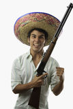 Angry mexican man Stock Images