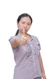 Angry middle age Asian woman Stock Photo