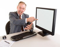Angry Middle Aged Businessman Stock Image