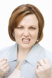 Angry Middle Aged Woman royalty free stock photos