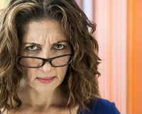Angry Middle Aged Woman Stock Photos
