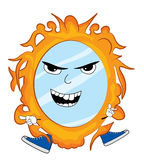 Angry mirror cartoon Royalty Free Stock Photos