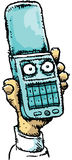 Angry Mobile Flip Phone Royalty Free Stock Image
