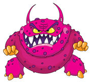 Angry monster royalty free illustration