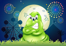 An angry monster at the amusement park Stock Images