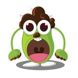 Angry monster, Cartoon character with angry expression. Vector Illustration Stock Photo
