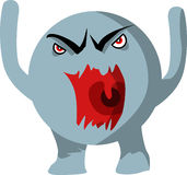 Angry monster Royalty Free Stock Photos