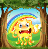 An angry monster at the jungle Stock Image