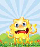 An angry monster near the hills Royalty Free Stock Images