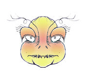 Angry Monster Portrait Drawing Royalty Free Stock Photo
