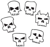 Angry Monster Skull Stock Photos
