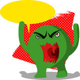 Angry monster with speech bubble Stock Photos