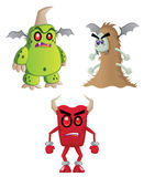 Angry Monsters Stock Images
