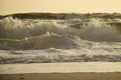 Angry Morning Ocean Stock Photography