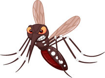Angry mosquito cartoon Royalty Free Stock Photography