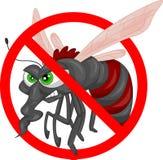 Angry mosquito cartoon Royalty Free Stock Photo