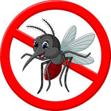 Angry mosquito cartoon Stock Photo