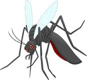 Angry mosquito cartoon stock illustration