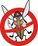 Angry mosquito - warning sign Stock Photography