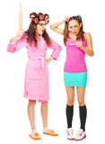 Angry mother and worried daughter with pregnancy Stock Photography