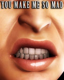 Angry Mouth Word 8 Royalty Free Stock Image
