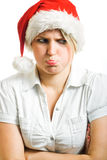 Angry Mrs. Claus. Royalty Free Stock Photos