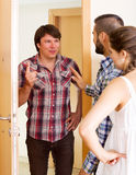 Angry neighbor Stock Photography