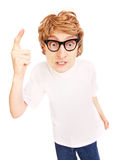 Angry nerd Royalty Free Stock Photography