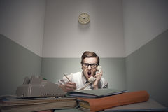 Angry nerd guy Stock Photography