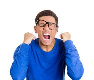 Angry nerdy man Stock Images