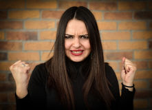 Angry and nervous woman Royalty Free Stock Images
