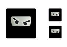 Angry Ninja Icons Stock Image