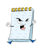 Angry notes cartoon Royalty Free Stock Image