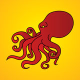 Angry Octopus graphic vector. Royalty Free Stock Image