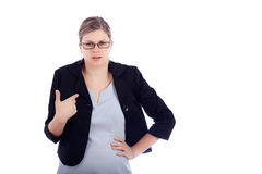 Angry offended business woman Royalty Free Stock Photography