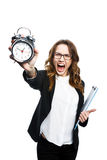 Angry office girl Stock Images