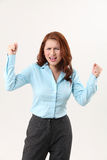 Angry office lady Stock Images