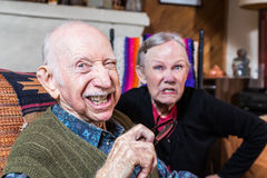 Angry Old Couple Stock Images