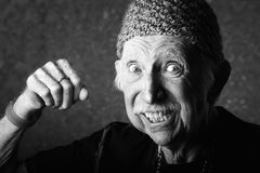 Angry Old Man Stock Photos