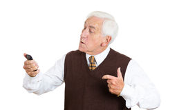 Angry old man Royalty Free Stock Photo