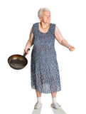 Angry old woman Stock Photo
