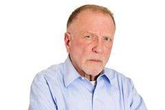 Angry older man Royalty Free Stock Image