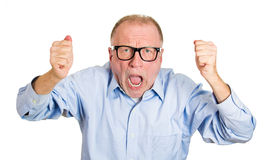 Angry older man Royalty Free Stock Photo
